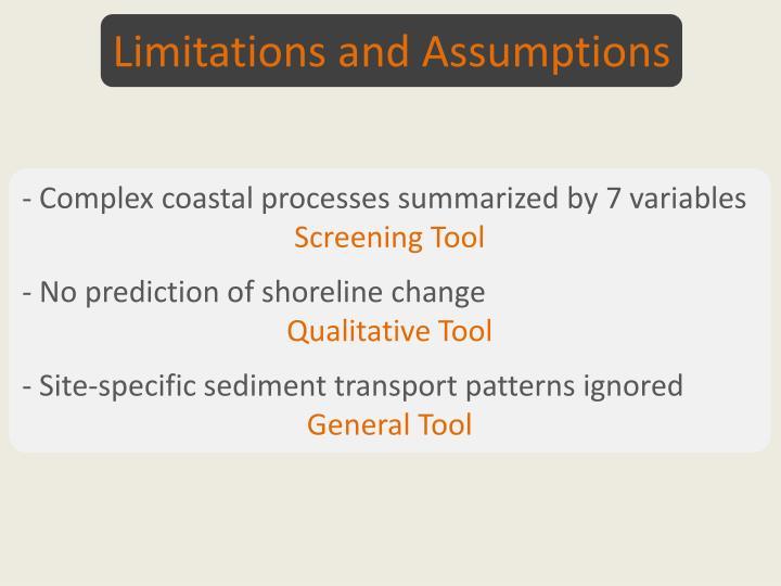Limitations and Assumptions