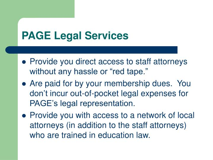 PAGE Legal Services