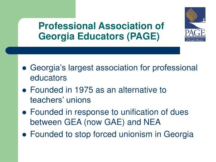 Professional association of georgia educators page