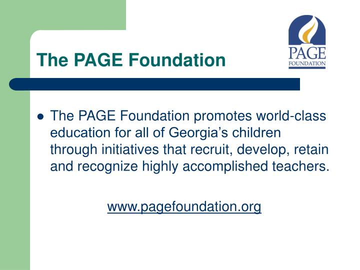 The PAGE Foundation