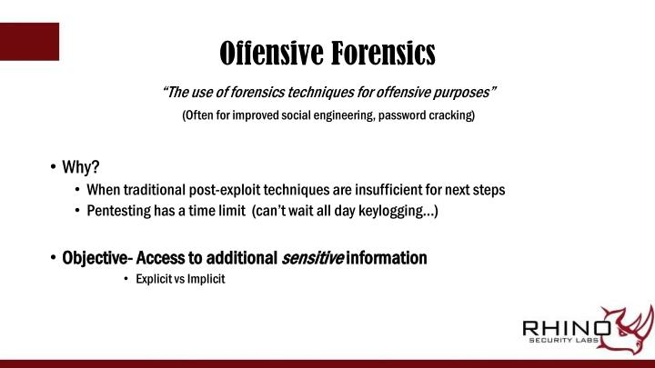 Offensive Forensics