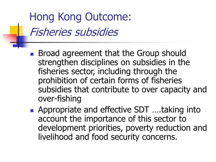 Hong Kong Outcome: