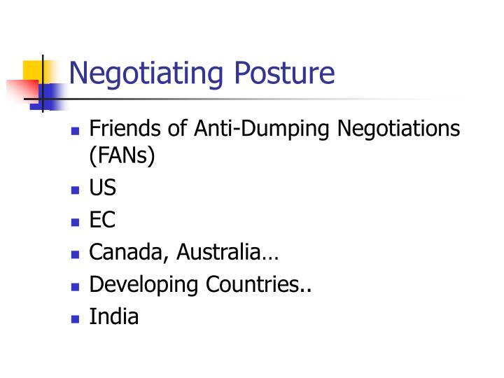 Negotiating Posture