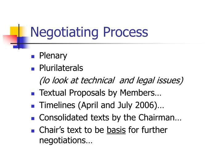 Negotiating Process