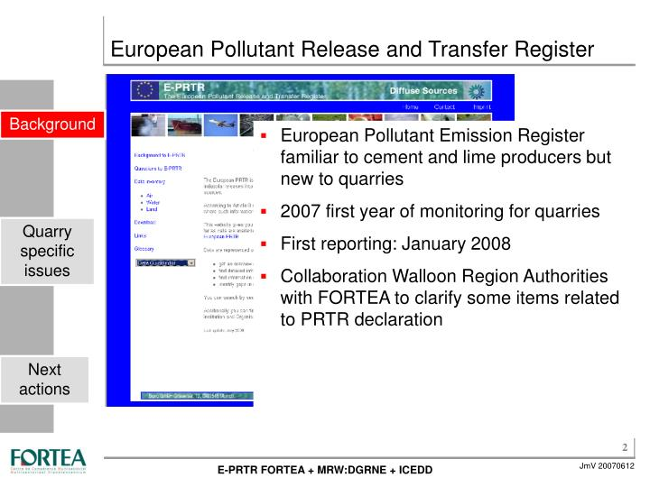 European pollutant release and transfer register