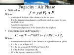fugacity air phase