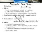 fugacity soil phase