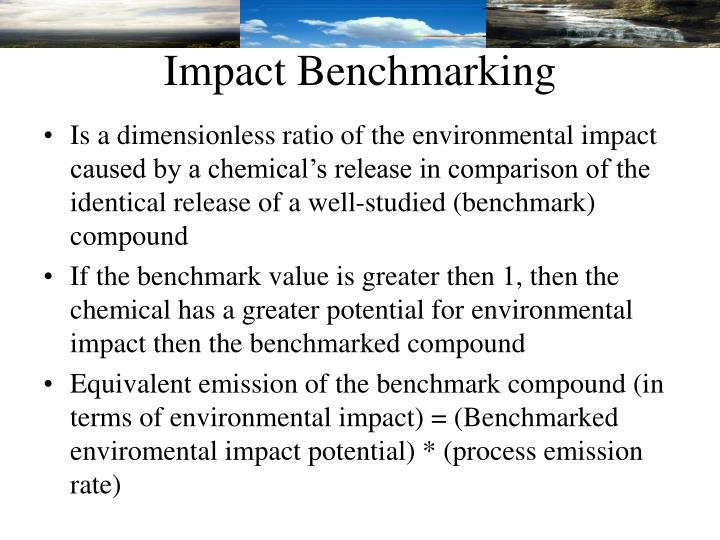 Impact Benchmarking