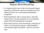 impact benchmarking