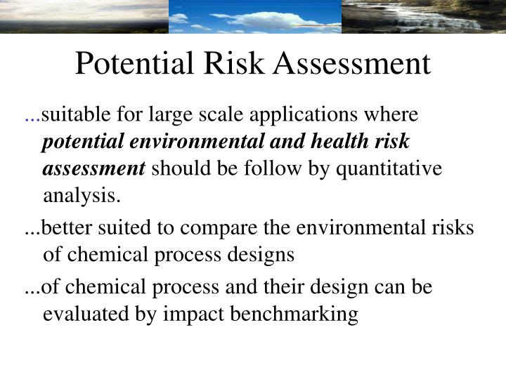 Potential Risk Assessment