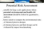 potential risk assessment