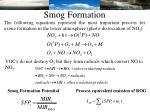 smog formation