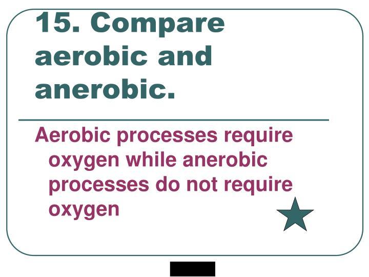 15. Compare aerobic and anerobic.