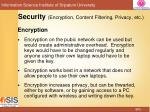security encryption content filtering privacy etc1