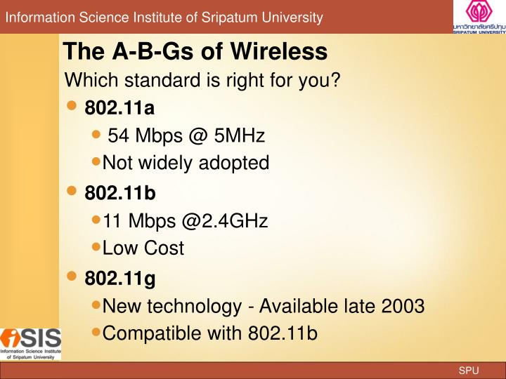 The A-B-Gs of Wireless