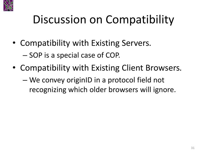 Discussion on Compatibility
