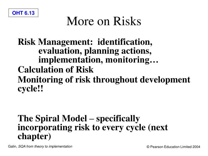 More on Risks
