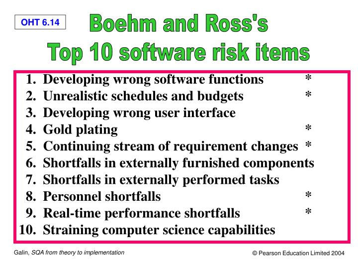 Boehm and Ross's