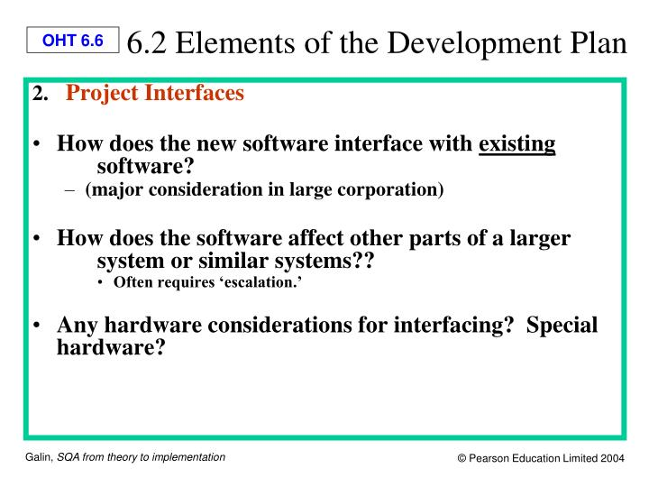 6.2 Elements of the Development Plan