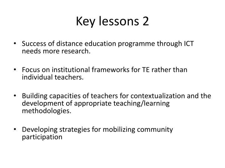 Key lessons 2