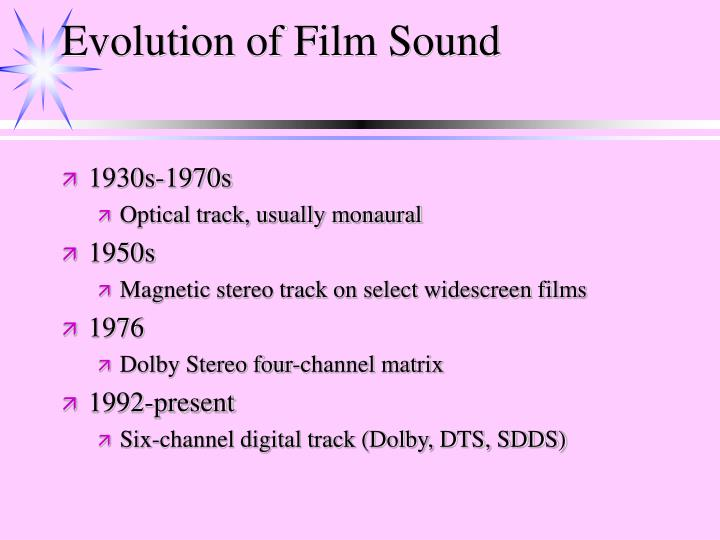 Evolution of Film Sound