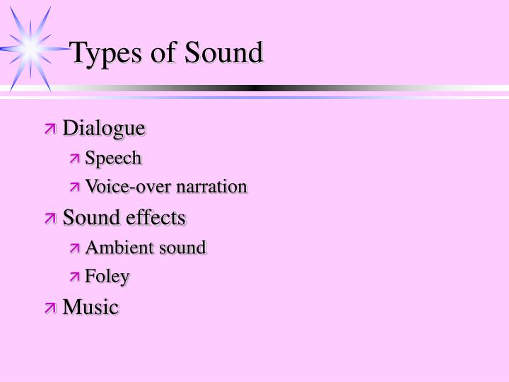 Types of sound