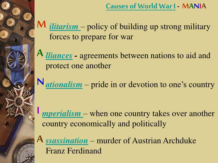 an analysis of the fundamental causes for the world war one Why did they fight understanding nationalism, imperialism and after explaining the causes of world war and the idea that only one nation can.