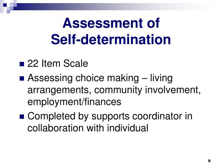 Assessment of