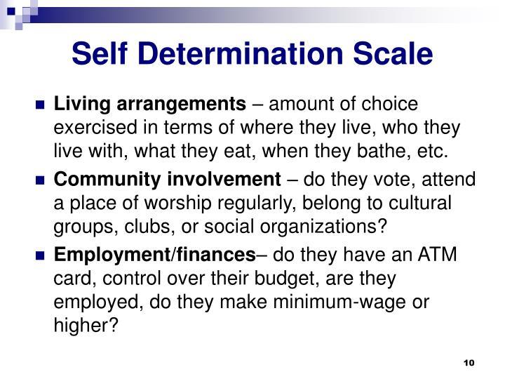 Self Determination Scale