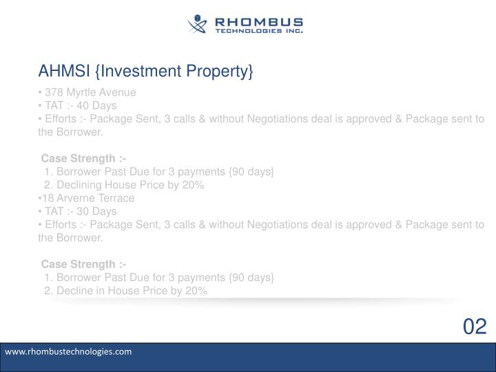 AHMSI {Investment Property}