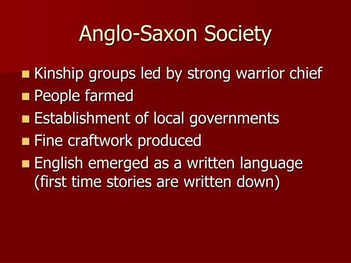 Anglo-Saxon Society