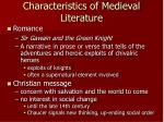 characteristics of medieval literature1