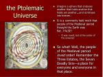 the ptolemaic universe