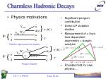 charmless hadronic decays