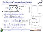 inclusive charmonium decays