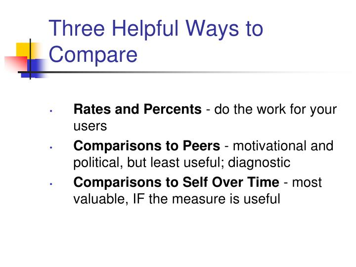 Three Helpful Ways to Compare