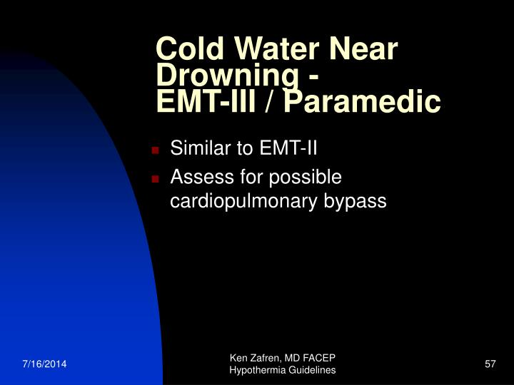 Cold Water Near Drowning -