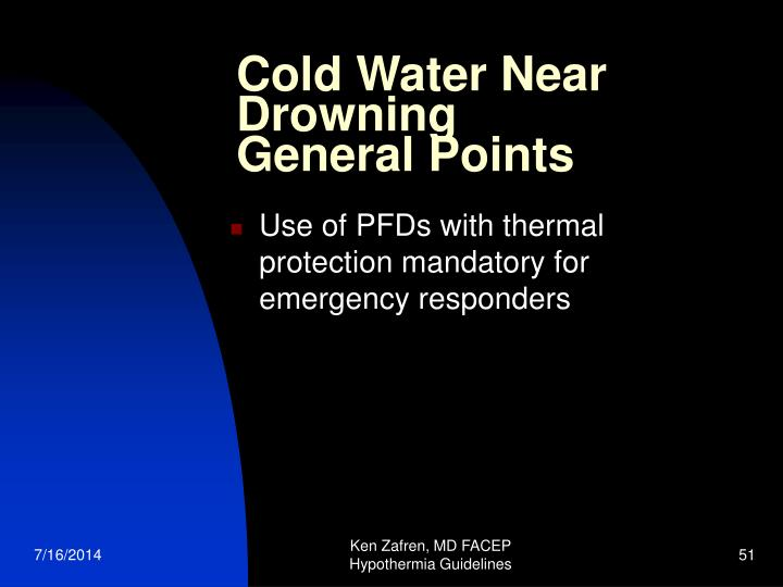 Cold Water Near Drowning