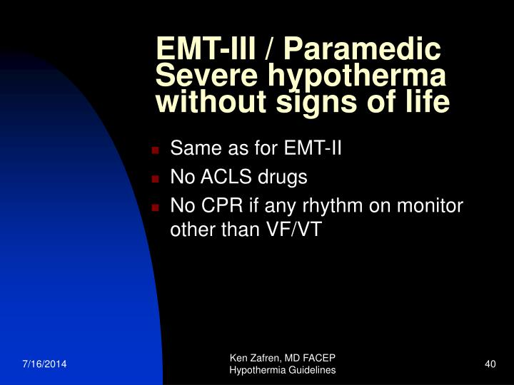 EMT-III / Paramedic