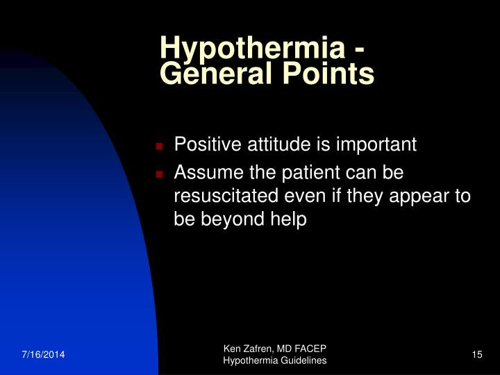 Hypothermia - General Points