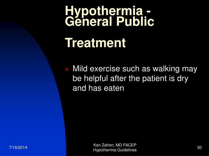 Hypothermia -