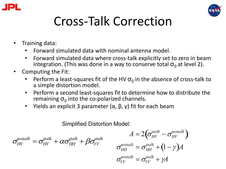 Cross-Talk Correction