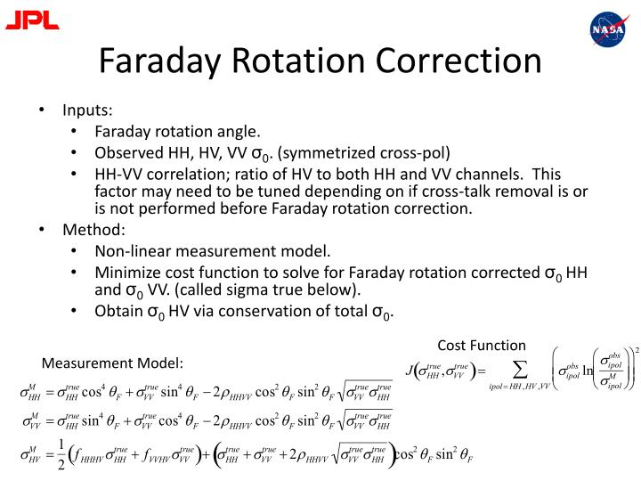 Faraday Rotation Correction
