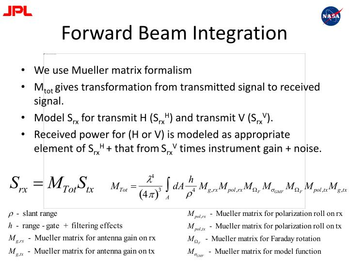 Forward Beam Integration
