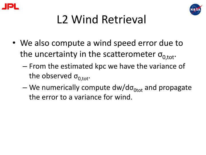 L2 Wind Retrieval