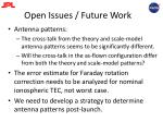 open issues future work