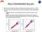 pals highwinds results
