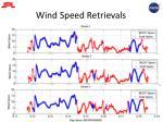 wind speed retrievals