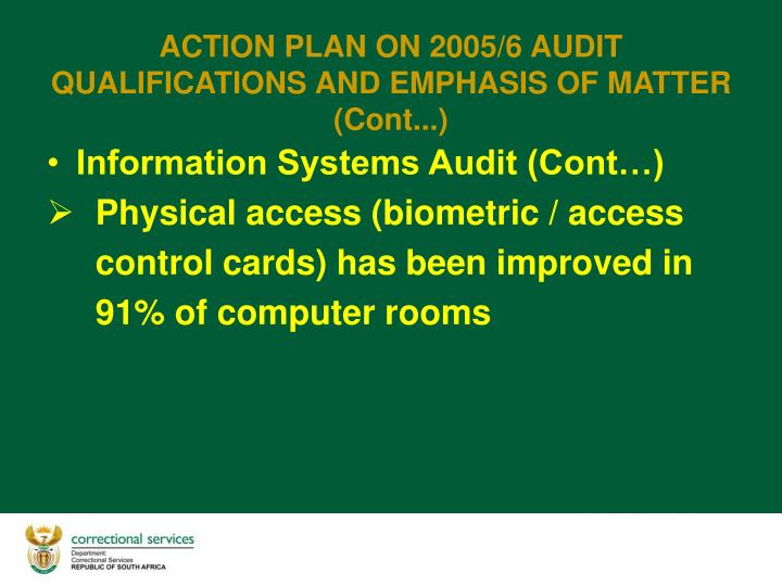 Information Systems Audit (Cont…)