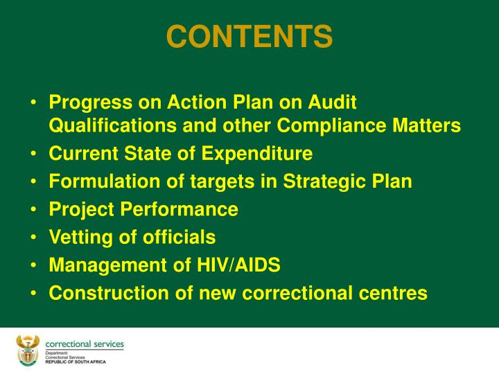 Progress on Action Plan on Audit Qualifications and other Compliance Matters